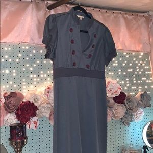 Short Sleeve Ruffle Shoulder Dress